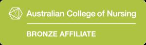 Australian College of Nursing Bronze Affiliate logo