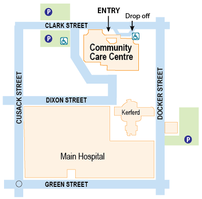 Community Care Centre map