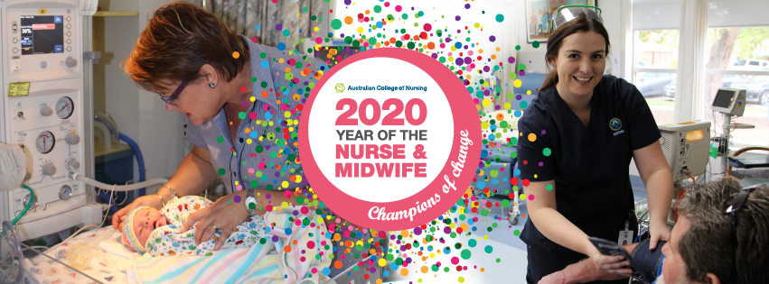 International Year of the Nurse and Midwife 2020 banner